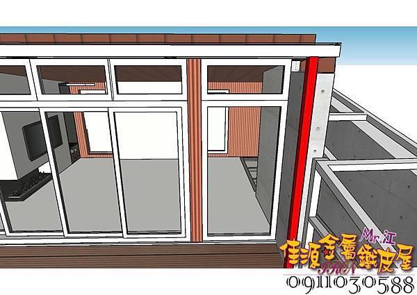玻璃門與落地窗中間結構須包板50公分.jpg