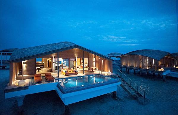 Sunset Overwater Villa_Night (2)