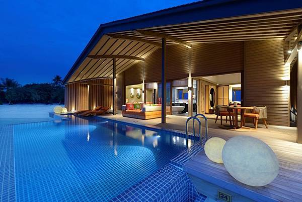 Sunset Overwater Villa_Night