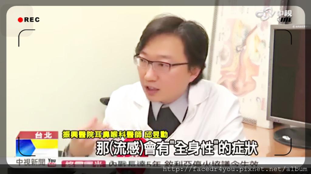 邱昱勳醫師接受中視新聞採訪