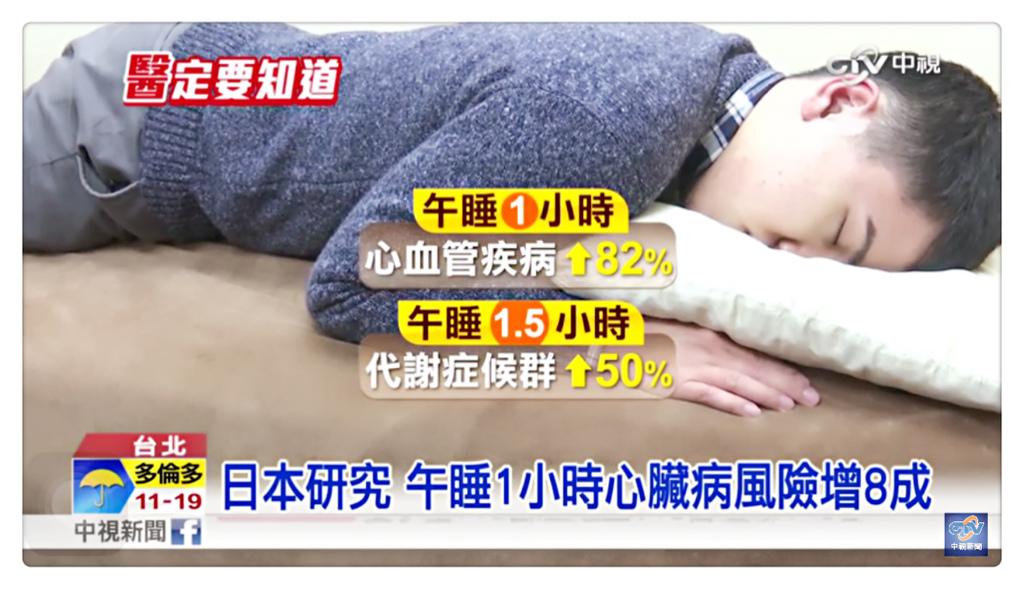 日本研究 午睡勿超過40分鐘 恐增加心臟病風險