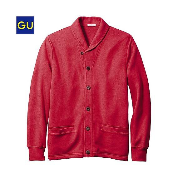 (GU)スウェットショールカラーカーディガン(長袖)¥990