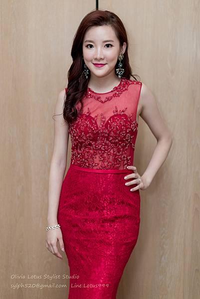 27時尚簡約新娘造型~質感新秘推薦Olivia Lotus純晚宴造型工作紀錄
