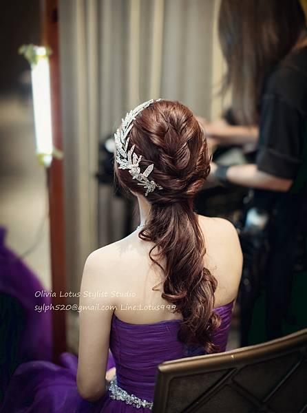 28時尚簡約新娘造型~質感新秘推薦Olivia Lotus純晚宴造型工作紀錄