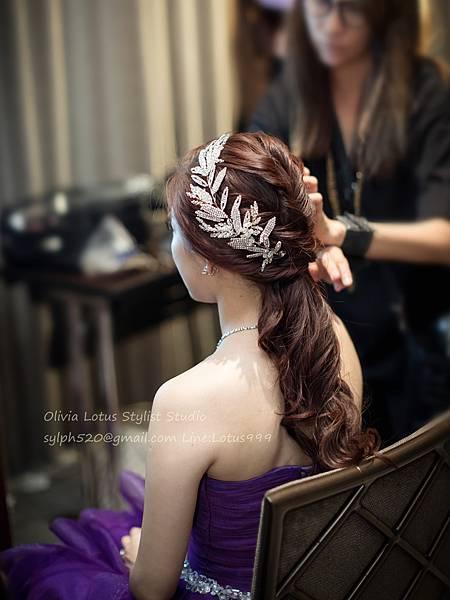 31時尚簡約新娘造型~質感新秘推薦Olivia Lotus純晚宴造型工作紀錄