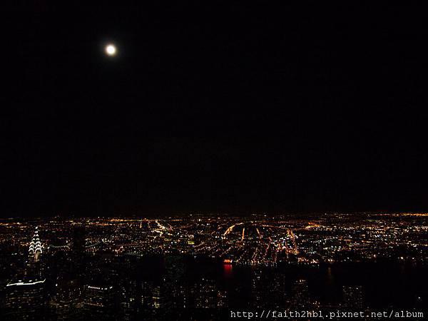 NYC 帝國大廈上看夜景