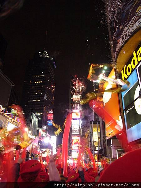 NYC 時代廣場 跨年