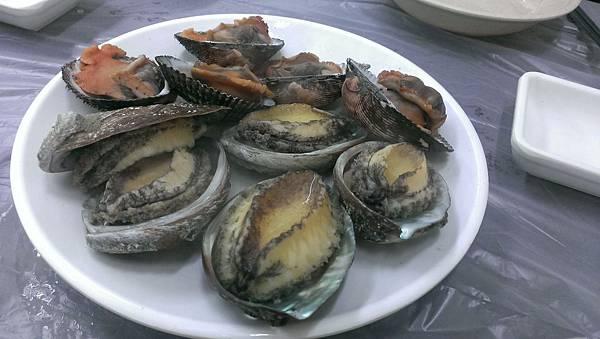 54新鮮的活鮑魚 5顆才1萬韓元 約兩百多台幣.jpg