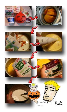 南瓜牛奶濃湯