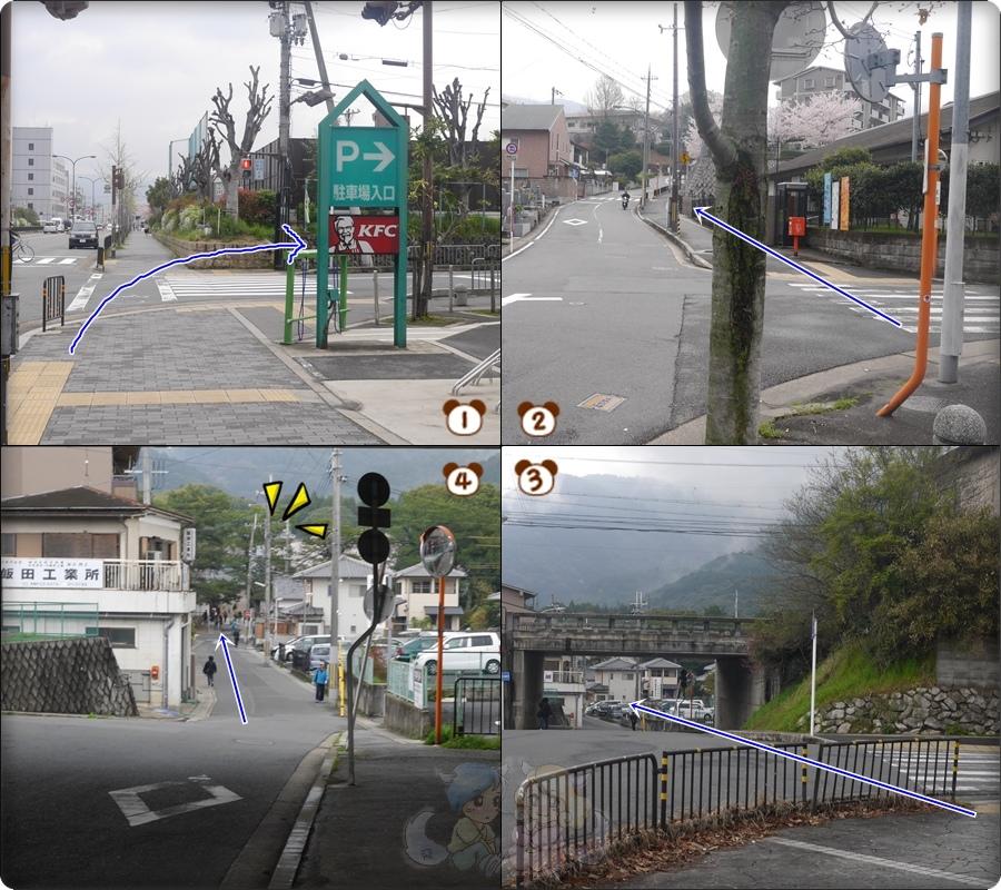 走到醍醐寺的路線