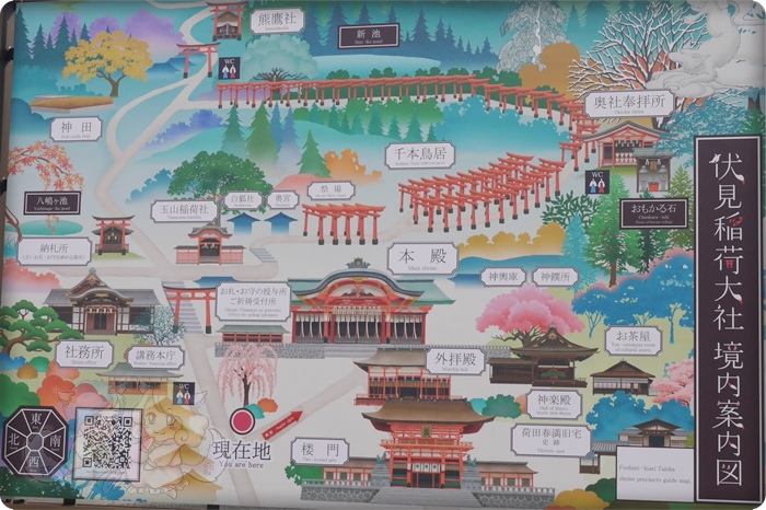 伏見稻荷神社.境內圖