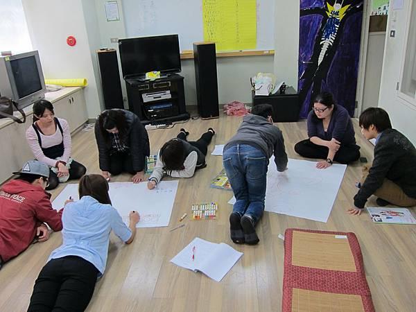 用圖畫來整理團體活動的看見及收穫