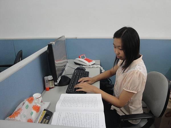 小萱正進行工作體驗