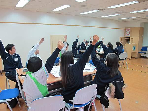 同學們熱烈踴躍發言