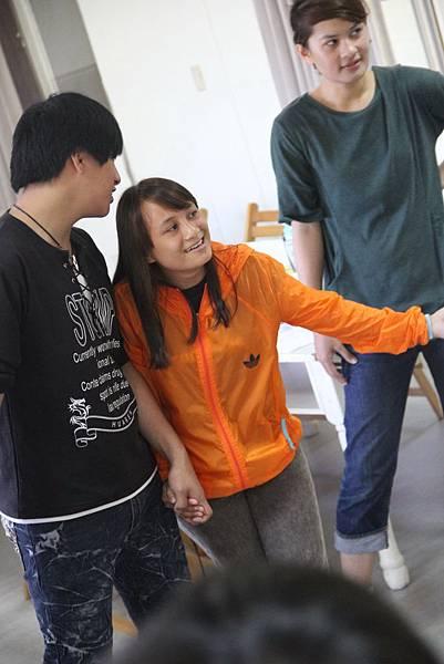 培訓課程時的雅婷十分害羞,常常需要同伴協助才敢開口