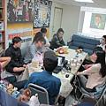 圖說三翰仁跟學員們分享自己的作品