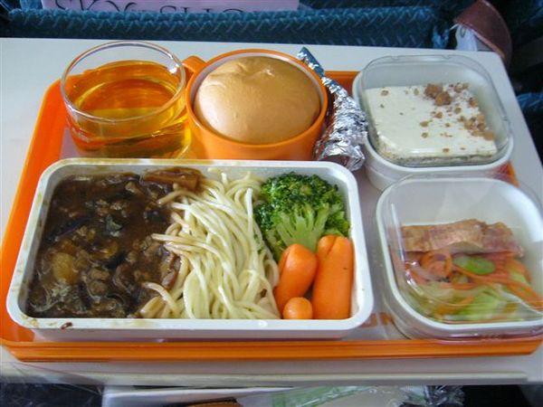第一天早上的飛機餐(早餐)