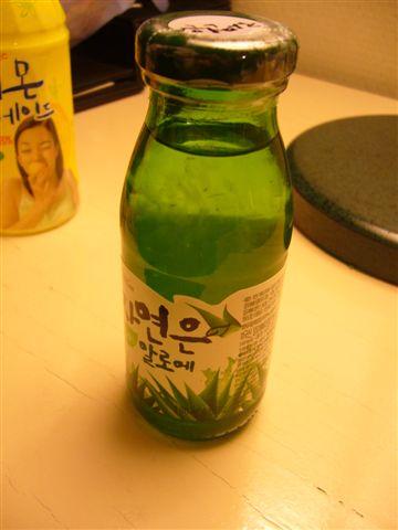 蘆薈汁,還蠻好喝的!