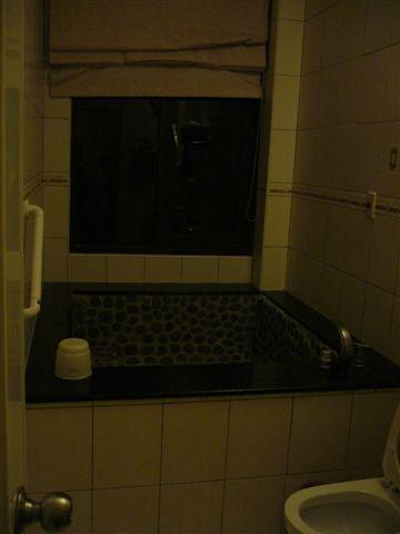 浴室裡的泡湯浴池