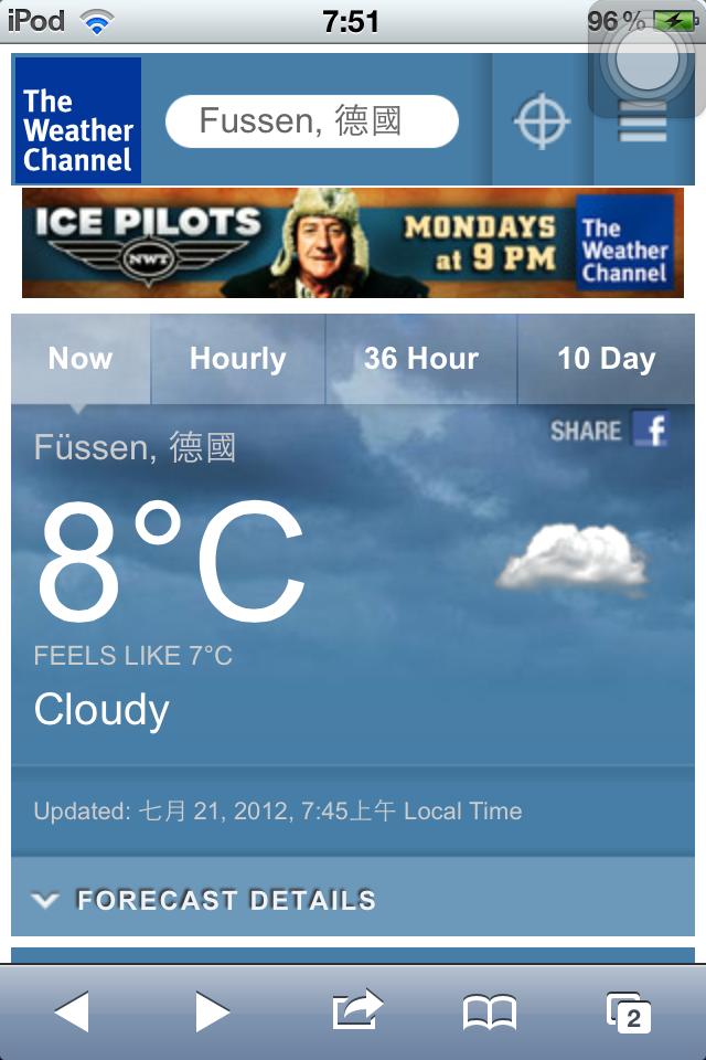 Füssen 富森 天氣