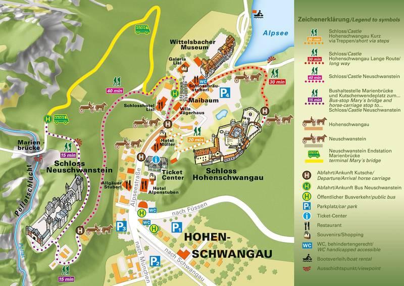 Schloss Hohenschwangau, Neuschwanstein 天鵝堡