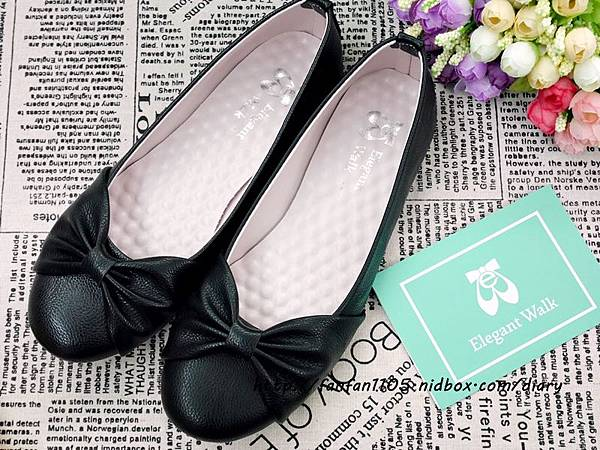 Elegent Walk EW女鞋 氣質蝴蝶結娃娃鞋 Walk健走系列無印風簡約輕量運動鞋 輕量又舒適 (4).JPG