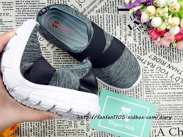 Elegent Walk EW女鞋 氣質蝴蝶結娃娃鞋 Walk健走系列無印風簡約輕量運動鞋 輕量又舒適 (11).JPG