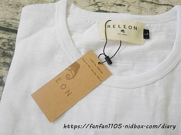 【Releon】100%棉透氣竹節T 純白 #竹節棉 #吸汗透氣 #功能T恤 #休閒 (4).JPG