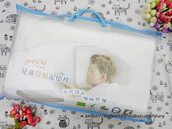 【GreySa格蕾莎】兒童環保記憶枕 專為5~12歲兒童設計 #台灣製造 側睡仰睡都適合 (3).JPG
