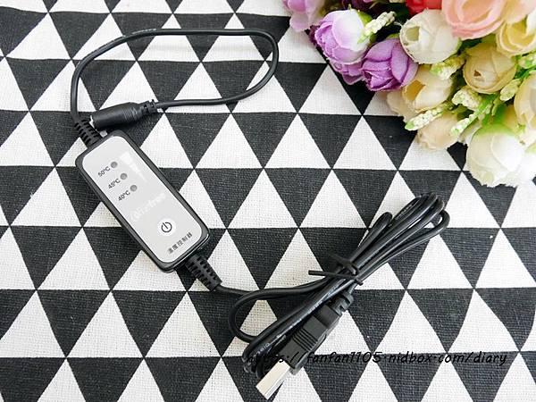 【Comefree康芙麗】USB定時三段溫控熱敷眼罩 旅行飛行適用 (淡雅灰) (4).JPG