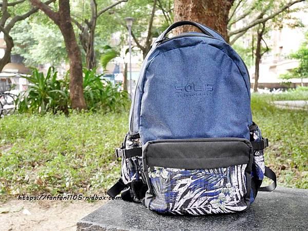 【SOLIS】ONES小尺寸前袋款電腦後背包 #環保材質 #綠色智慧紡織風 #防撥水後背包 #筆電背包 (14).JPG