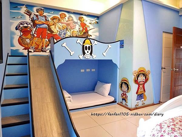 宜蘭五結【貝兒的家-孩子的滑梯民宿】#溜滑梯 #卡通主題房 #親子民宿 #海鷗管家 (13).JPG