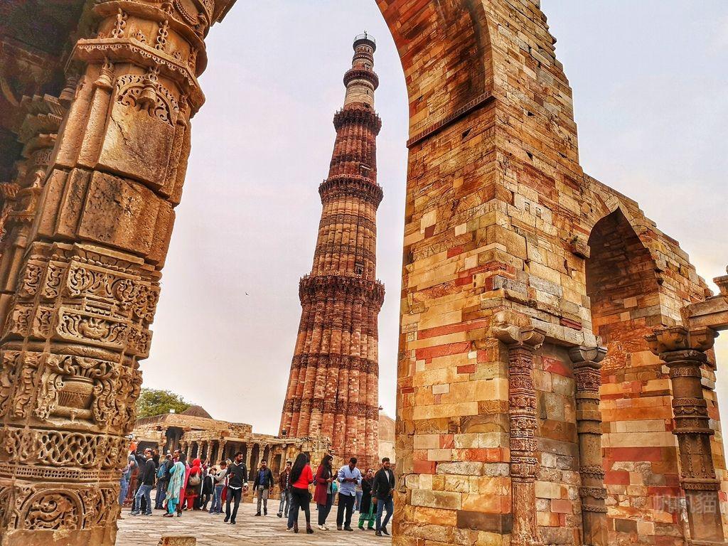 【印度 德里】古達明納塔 第一次被印度人搭訕了!