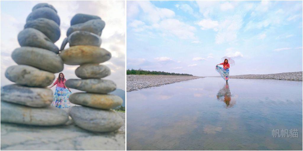 【花蓮 景點】曼波海灘 七星潭 疊石藝術 天空之鏡 花蓮2大絕美海灘就要這樣拍