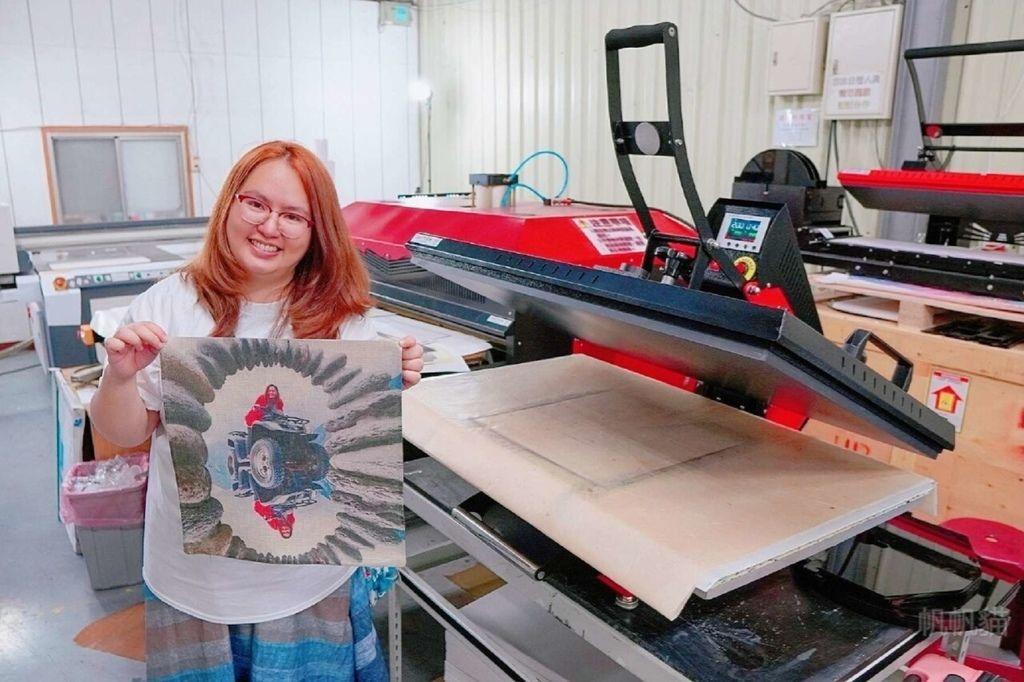 客製化抱枕單面轉印完成-熱轉印機推薦