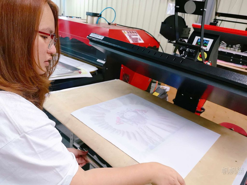 客製化抱枕轉印過程-熱轉印機推薦