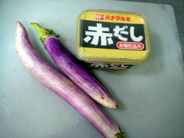茄子田樂燒之1 材料.JPG