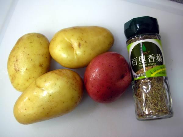 百里香馬鈴薯之1 材料.JPG