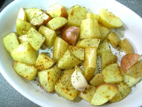 百里香馬鈴薯之4 烤熟.JPG