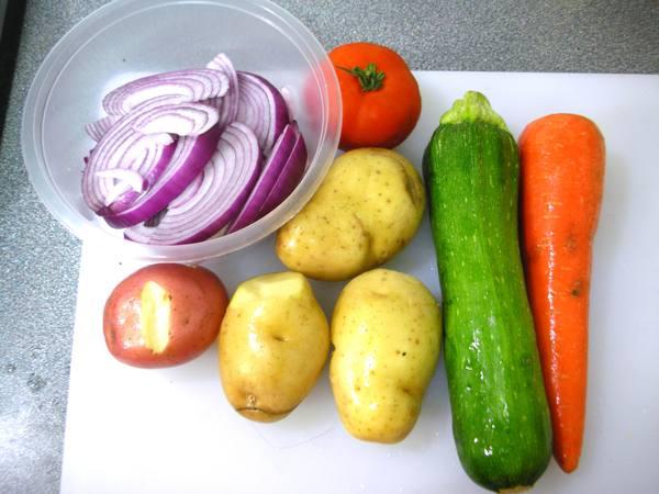 烤蔬菜之1 材料.JPG