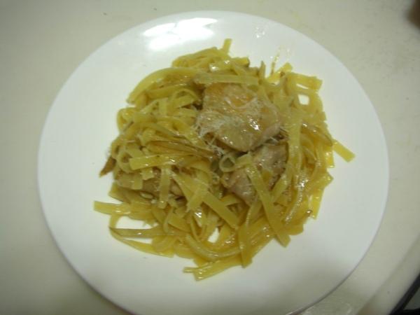 牛蒡雞肉義大利麵.JPG