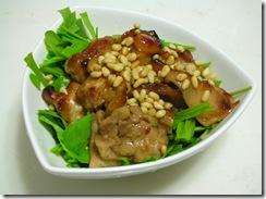 烤雞配西洋菜1