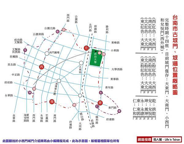 台南古城牆圖