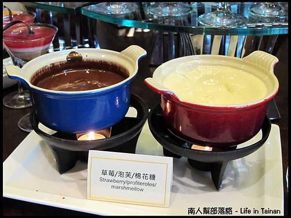 The Cut-白巧克力和巧克力醬.JPG