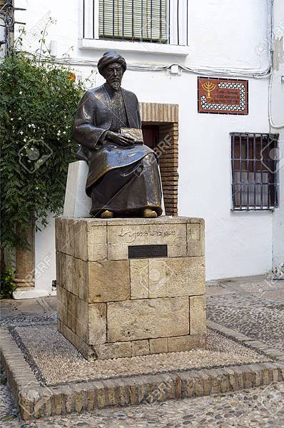 24189082-Statue-of-Maimonides-in-Cordoba-Spain-Medical-Jewish-rabbi--Stock-Photo