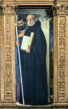 220px-Frari_(Venice)_-_Sacristy_-_triptych_by_Giovanni_Bellini_-_Saint_Benedict_of_Nursia_and_Saint_Mark