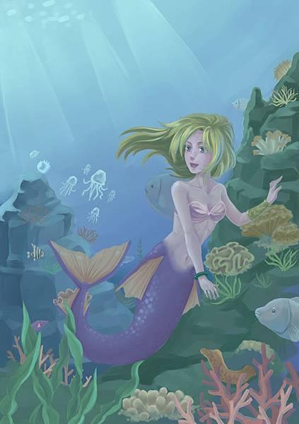 海中的美人魚