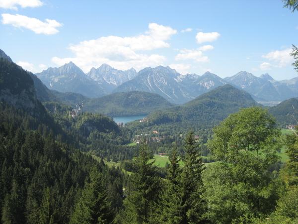 從 Tegelberg 半山腰往下看