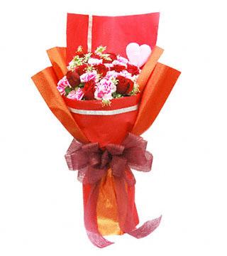 婚庆鲜花-红玫瑰花康乃馨