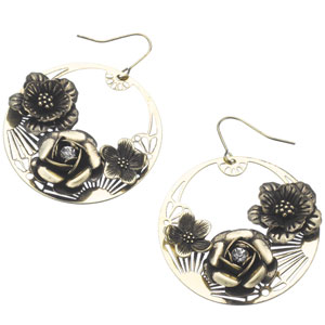 Accessorize - Vintage Flower Hoop Earrings.jpg